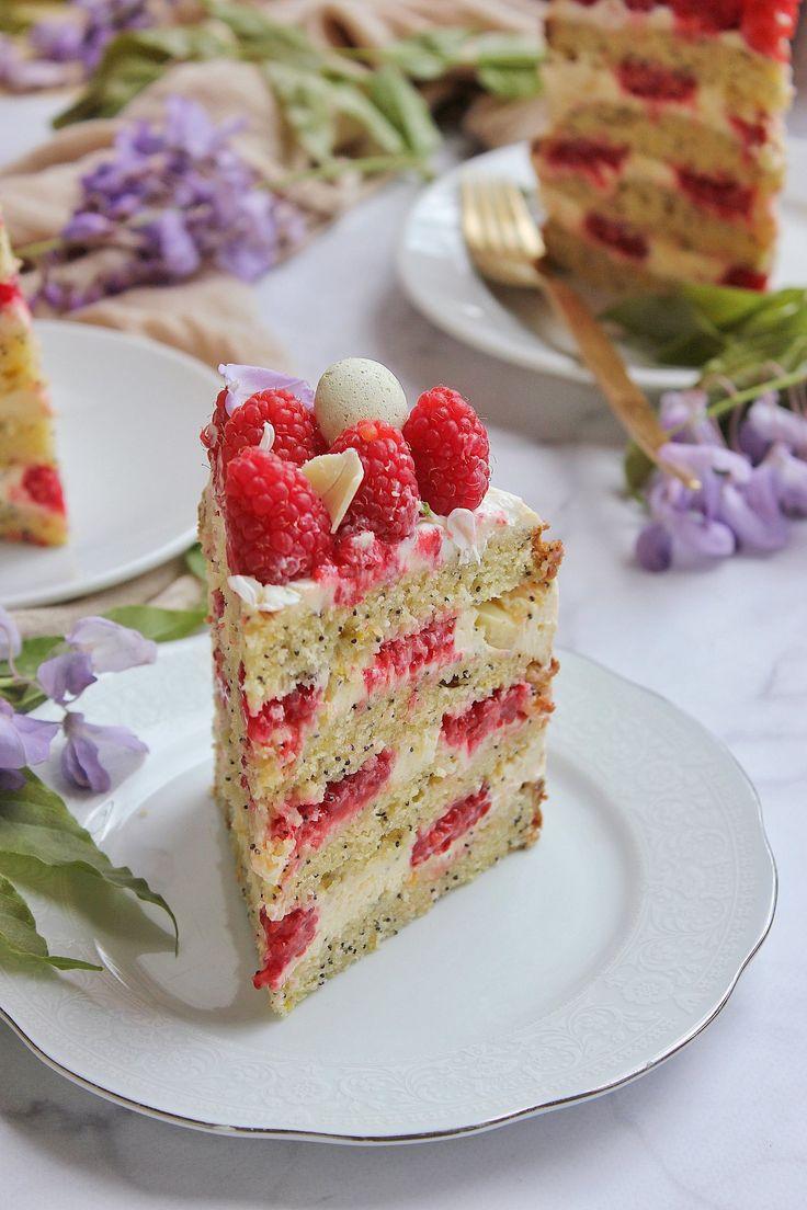 Mákos-citromkrémes-málnás torta | Ízből tíz