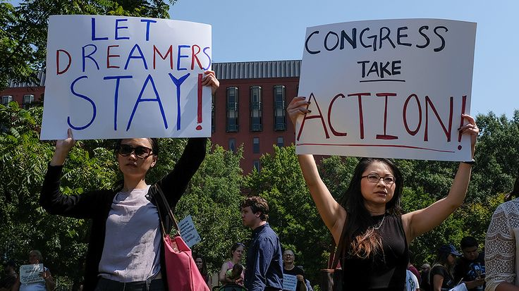 The Trump administration's decision to phase out the Deferred Action for Childhood Arrivals (DACA) program is sparking a legislative arms race on Capitol Hill.