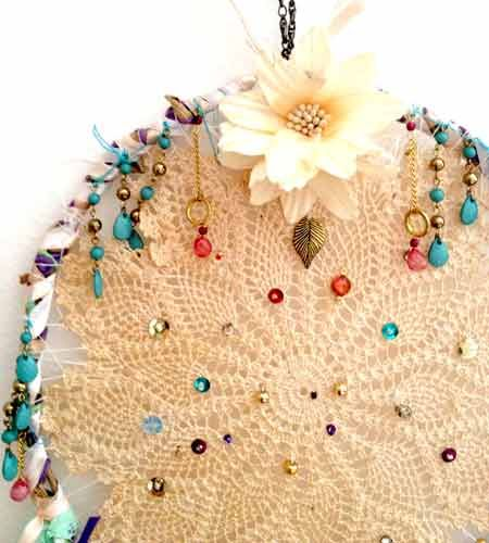 How To Make Doily Dream Catchers - LifeStyle HOME