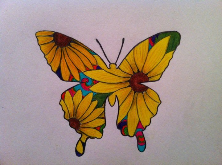 Vintage Butterfly Tattoo Butterfly Tattoo by Mandi06