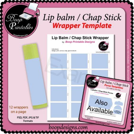 lip balm chap stick wrapper printable temp blank templates pinterest lips lip balm and. Black Bedroom Furniture Sets. Home Design Ideas