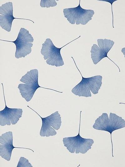 marimekko biloba wallpaper, blue