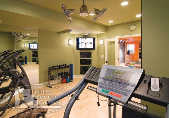 Home Gym Design: 98 Best Basement Images On Pinterest