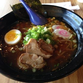 Photo of RameNesque - Thornwood, NY, United States. This shoyu ramen with pork topping look much better without red cabbage and thicker slice of naruto fish cakes.  This time was yummy!
