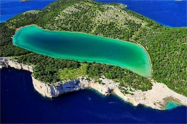 Beautiful lake on Krk island, Croatia