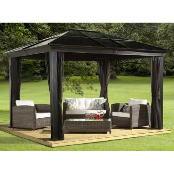 26 best images about diy backyard on pinterest for Abri mural hardtop gazebo