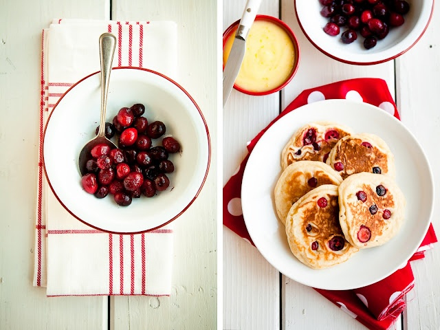 Cranberry-Nutmeg Pancakes with Lemon Curd for Christmas morning! (via ...