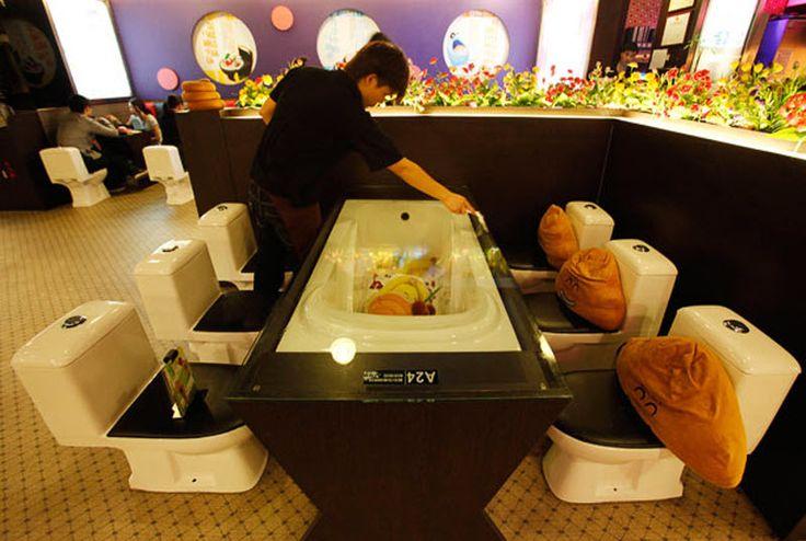 Азиатские рестораны Современный туалет