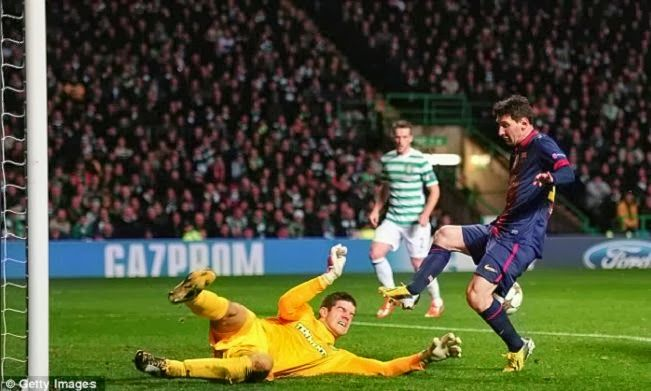 Celtic vs Barcelona Champions League October 1 2013