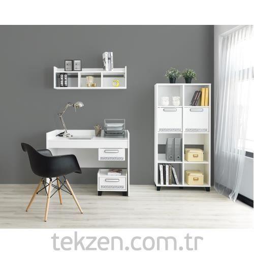 Home De Bella Brezza Çalışma Masası - Duvar Rafı - Kitaplık Seti modelleri ve fiyatları uygun taksit seçenekleriyle güvenilir alışverişin adresi Tekzen.com.tr'de!