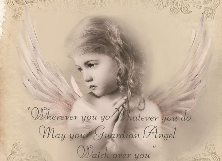 Vintage angel child digital collage p1022  free to use <3