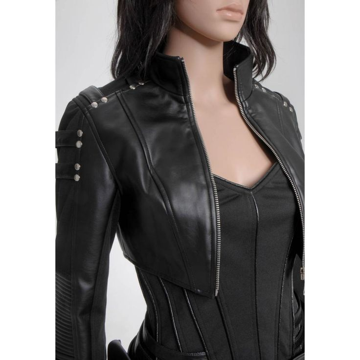 Arrow Black Canary Sara Lance Pleather Jacket Pants Outfit Costume ...