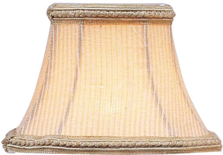 0-004574>2.5x5x4.25 Chandelier Square Lamp Shade Cream Pinstripe