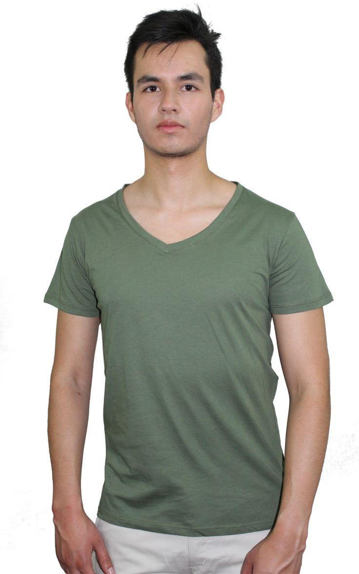 Camiseta Cuello V Berowra Verde Oliva
