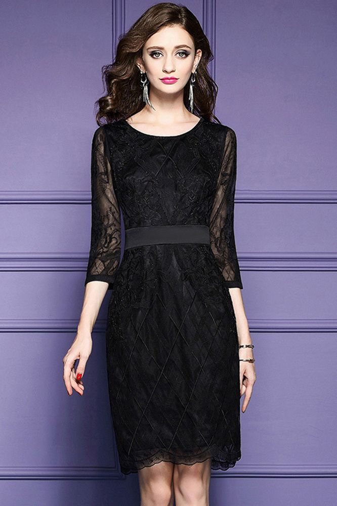 Only $79.99, Wedding Guest Dresses Luxe Black Lace Sleeve Short Wedding Guest Dress Black Tie For Weddings #ZL8017 at #GemGrace. View more special Cocktail Dresses,Wedding Guest Dresses now? GemGrace is a solution for those who want to buy delicate gowns with affordable prices, a solution for those who have unique ideas about their gowns. Shop now!