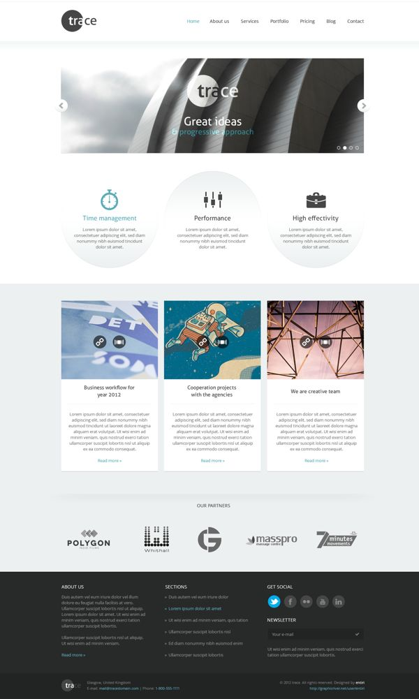 15 Inspirational Examples of Minimal  Clean Web Design