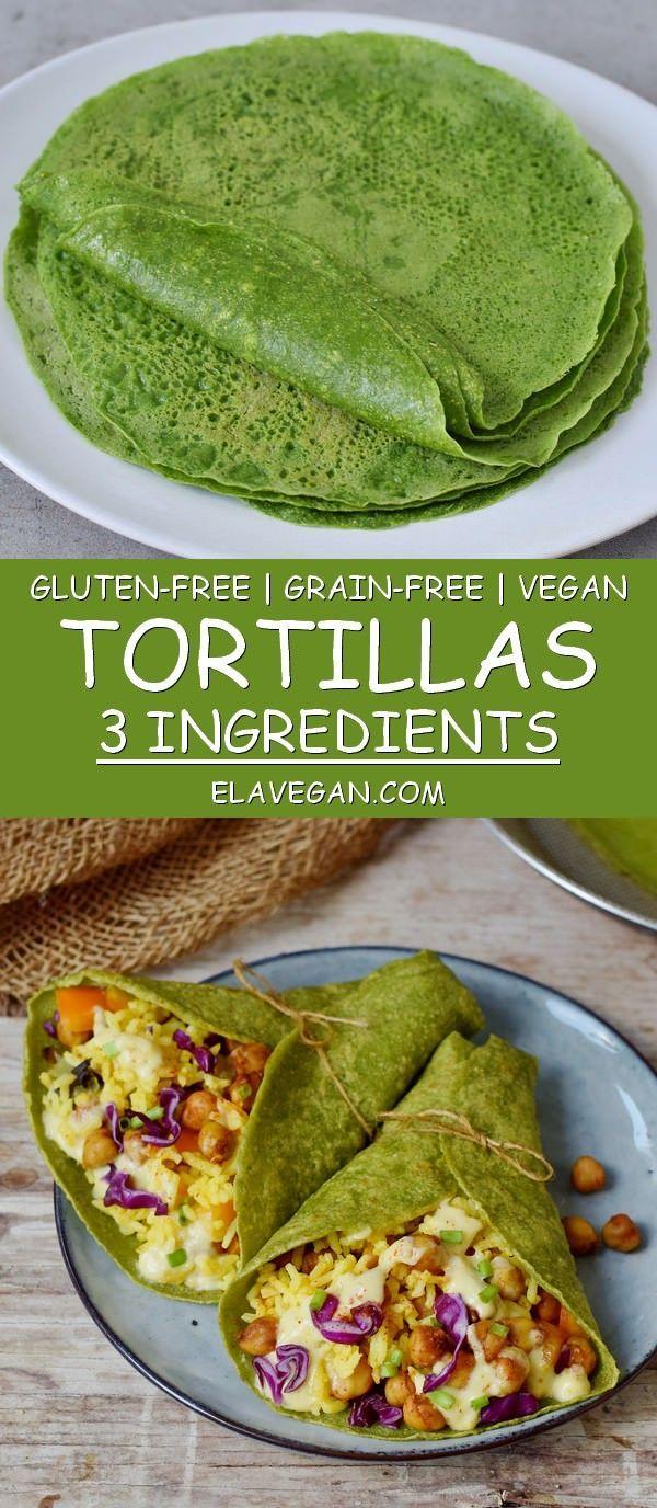 Getreidefreie Tortillas mit Spinat. Das Rezept ist gesund, vegan (milchfrei, Ei …   – Rezepte
