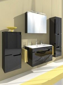 Meble łazienkowe Libra Czarna | Transport Gratis !
