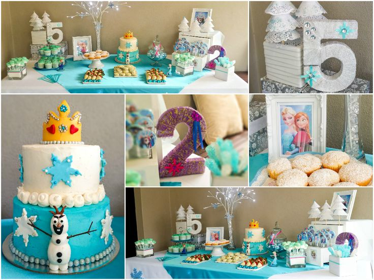 Frozen Birthday Party aged 2 and 5