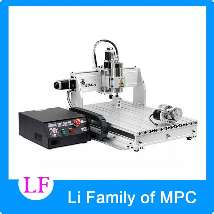 1824.50$  Buy now - http://ali0p7.worldwells.pw/go.php?t=32666243214 - 4axis CNC Router 6040Z-USB Mach3 auto engraving machine with 1.5KW VFD spindle and USB port for hard metal