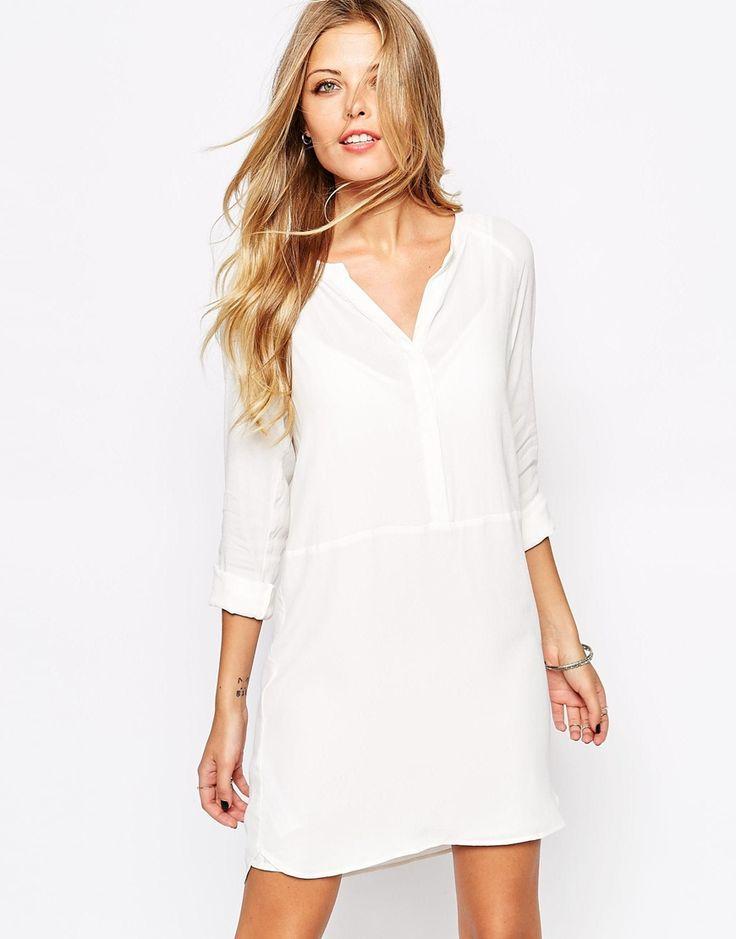 Image 1 ofMango Crepe Shirt Dress