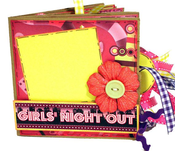 Girls Night Out Scrapbook - Paper Bag Photo Album