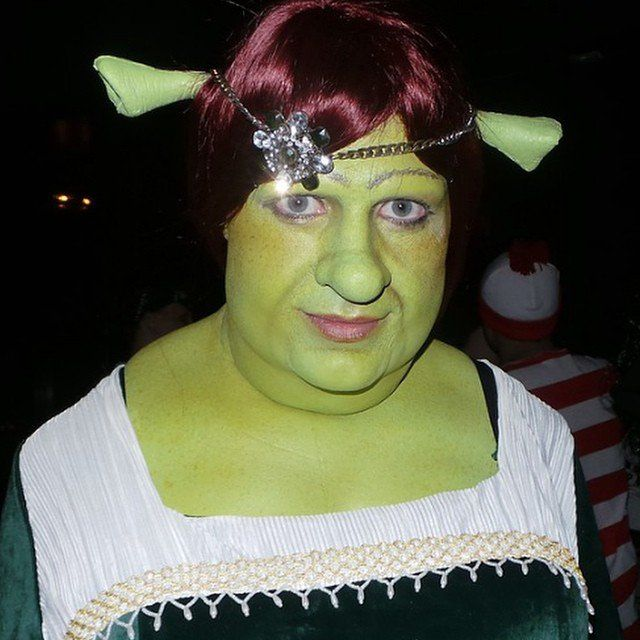 "Pin for Later: Colton Haynes's Halloween Costumes Just Keep Getting Better and Better Fiona From Shrek, 2014 ""What a night!:) Thx to @erikporn @rbfx @pocketstylistxx @bitemaresinc for the unbelievable makeup. My dream costume finally came life!"""