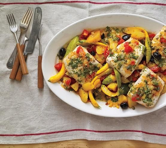 Oven roasted fish and vegetables fish pinterest for Fish and vegetable recipes