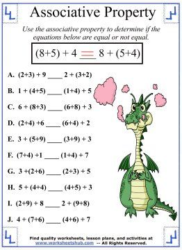 Associative Property of Addition Worksheet 3