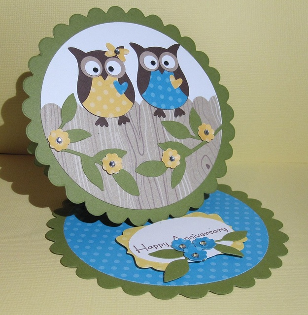 5/7/2011; Ciara Jennings, via Flickr; here is the two step owl again on an easel card!!!!!!!!!