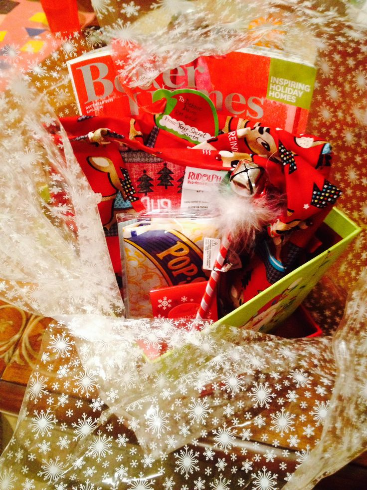 Secret Santa Gift Basket Holiday Activities Pinterest