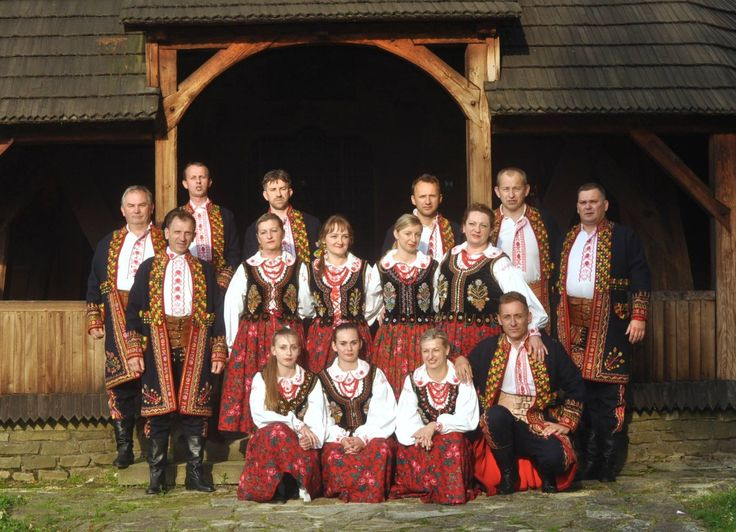 Lachy Sądeckie (region around Nowy Sącz), southern Poland. Folk Ensemble Jaślanie.