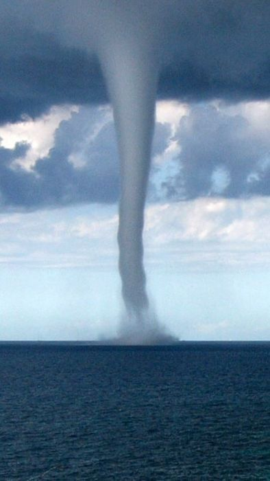 Waterspout i.e. non-supercell tornado over water; whereisthecool.com; http://en.wikipedia.org/wiki/Waterspout