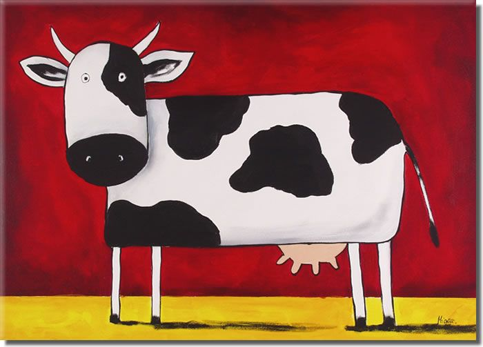 Primitive cow art