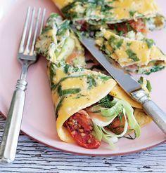 Æggewrap med lækkert fyld er en nem, lækker og mættende ret.