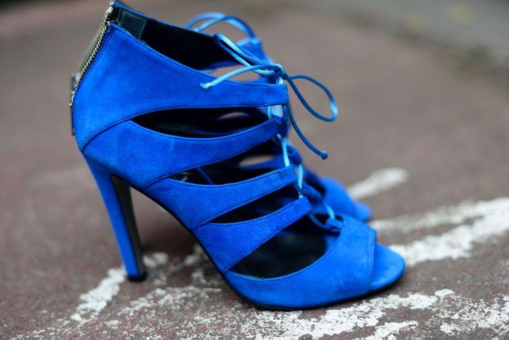 Sandalias de tacón acordonadas Bemel ante azulón Mas34 www.mas34shop.com