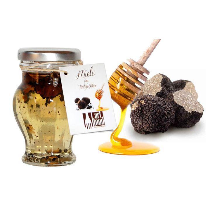 Miele Italiano di Acacia con Tartufo Estivo -  Italian Acacia Honey with Black Summer Truffle Enjoy it!
