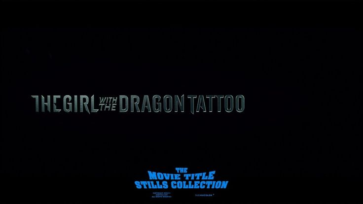 The Girl with the Dragon Tattoo (2011) title sequence