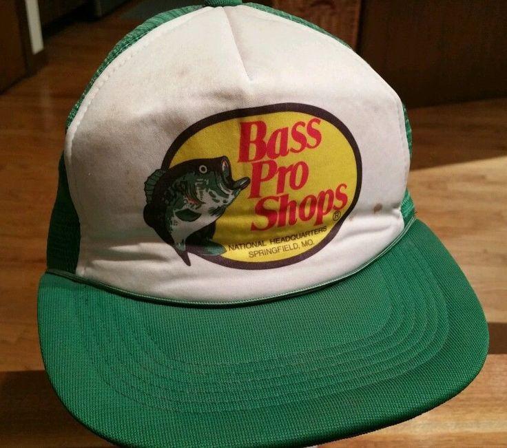 Vintage bass pro shops fishing snapback cap trucker hat for Fishing snapback hats