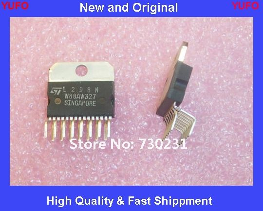 Free Shipping 2 pcs L298N ST MICRO STEPPER MOTOR DRIVER