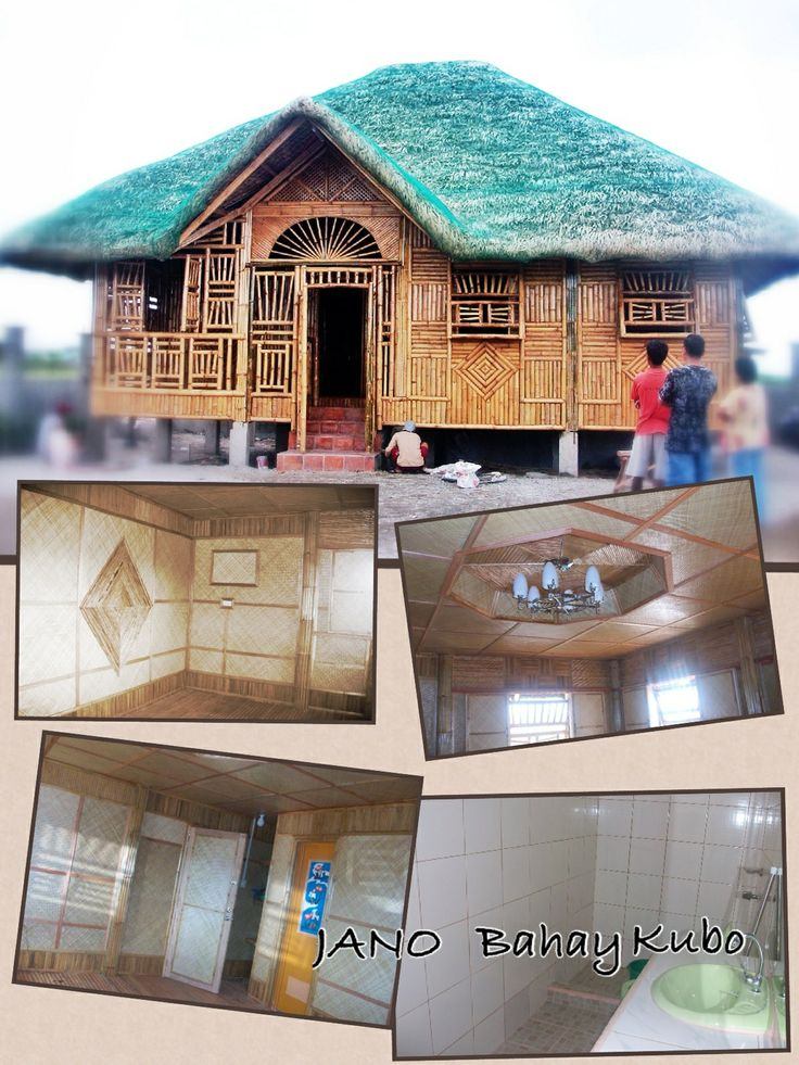 8x10meters concrete nipahut nipa hut style philippines for Half concrete half wood house design