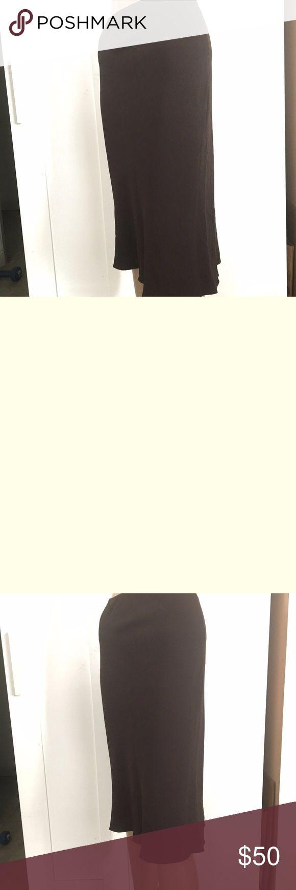 AUTHENTIC PRADA BROWN SILK TULIP CUT SKIRT 2 AUTHENTIC GORGEOUS PRADA COLLECTION BROWN SILK TULIP CUT SKIRT IN A SIZE 2. Prada Skirts Midi