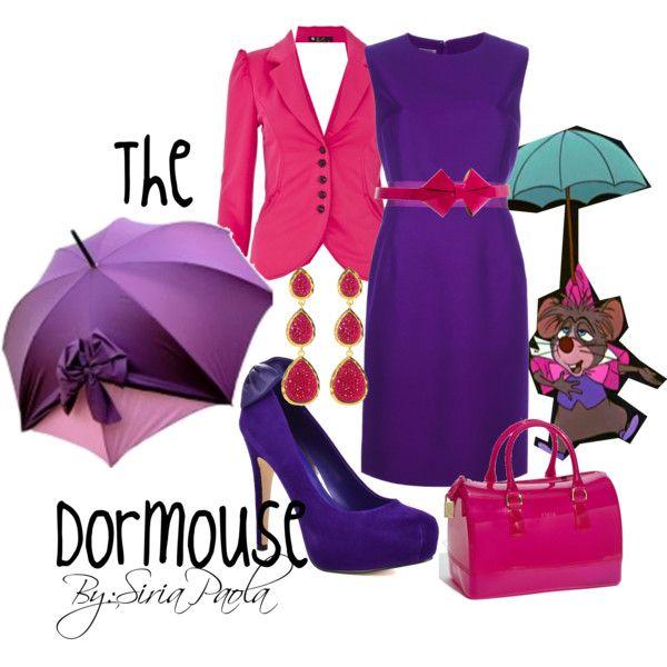 The Dormouse (Alice In Wonderland) by siriatejadapaola on Polyvore featuring Giambattista Valli, Quiz, Dolce Vita, Furla, Amrita Singh, the dormouse and disney