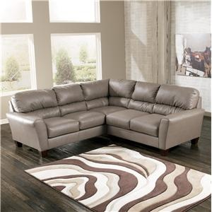 Kentley DuraBlend - Mushroom Contemporary 2-Piece Sectional with LAF Sofa by Signature Design by Ashley - Furniture Mart Colorado - Sofa Sectional Denver, Northern Colorado, Fort Morgan, Sterling, CO