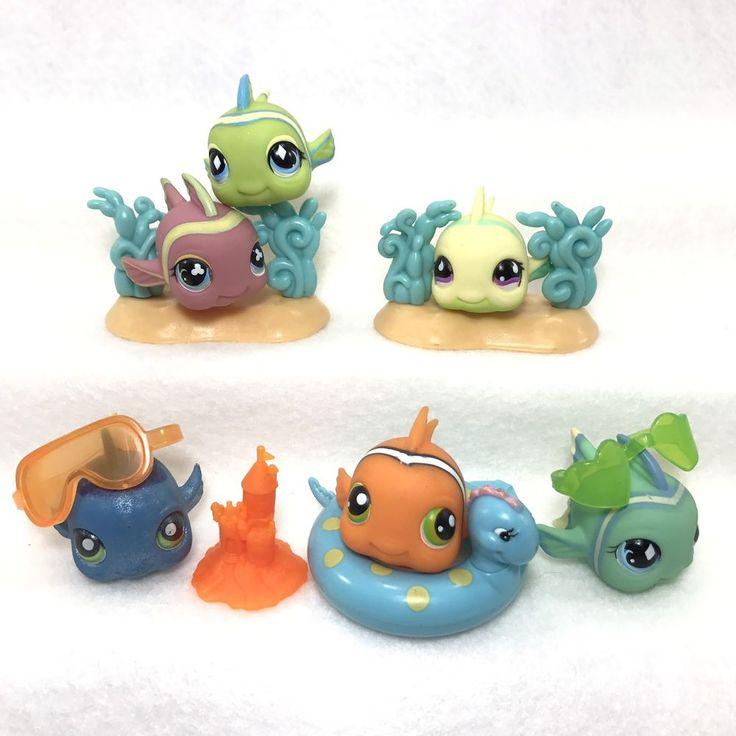 Littlest pet shop lps fish ocean reef party lot ebay for Fish pet shop