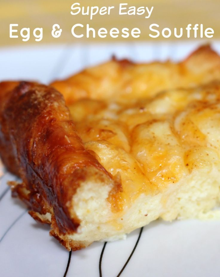 Super easy egg and cheese souffle - Great brunch recipe!