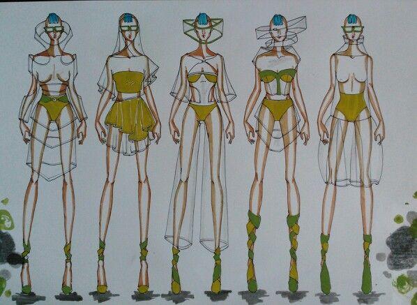 Galactic lady #fashionillustration
