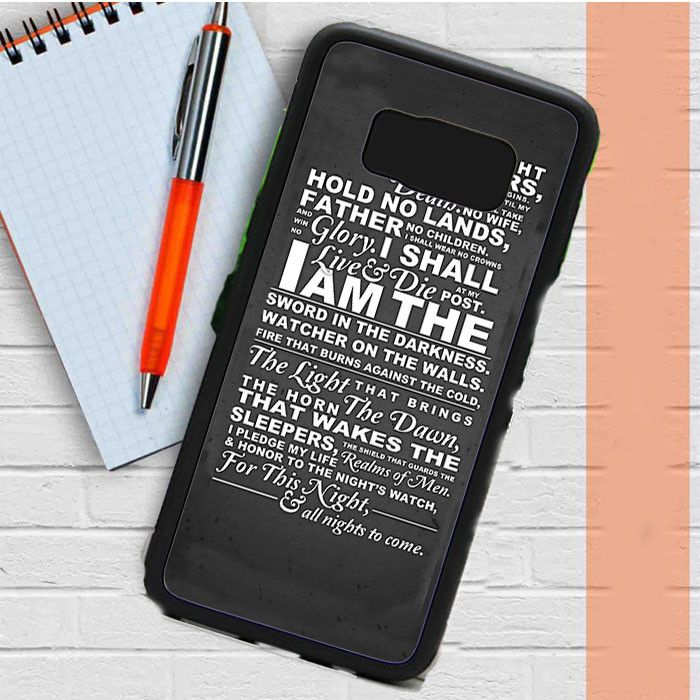 The Nights Watch Oath Samsung Galaxy S8 Case Dewantary