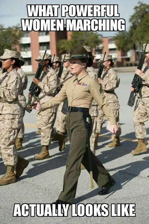 What powerful women marching actually look like!