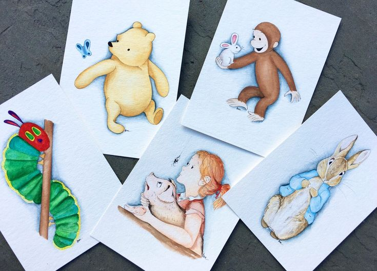 Storybook Characters Nursery Decor. Children's book wall art. storybook Nursery Art. by BMonteDesigns on Etsy https://www.etsy.com/listing/471750481/storybook-characters-nursery-decor
